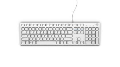 DELL Klawiatura USB KB216 White (580-ADGM)